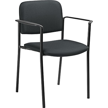 Offices To Go® Minto Stacking Armchair, Charcoal