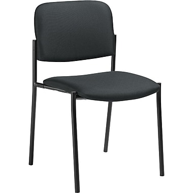 Offices To Go® Minto Stacking Chair (No Arms), Charcoal