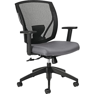 Offices To Go® IBEX-F Mid-Back Mesh Tilter with Fabric Seat, Slate