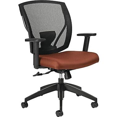 Offices To GoMD – Chaise IBEX-F à dossier inclinable mi-hauteur à filet, siège en tissu, roussâtre