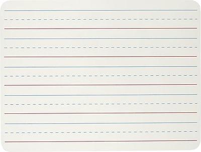 Charles Leonard™ Plain/Lined Magnetic Dual Sided Dry Erase Lapboard, White