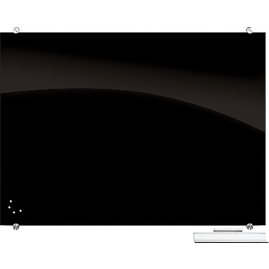 Best-Rite® Visionary™ Black Magnetic Glass Board, 4' x 8' (84065)