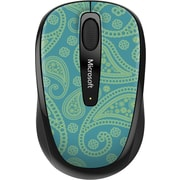 Microsoft Wireless Mobile Mouse 3500,  BlueTrack USB Wireless Mouse, Paisley Pattern (GMF-00408)