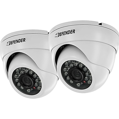 Defender 2 Pack 800TVL Widescreen Indoor/Outdoor Dome Security Cameras