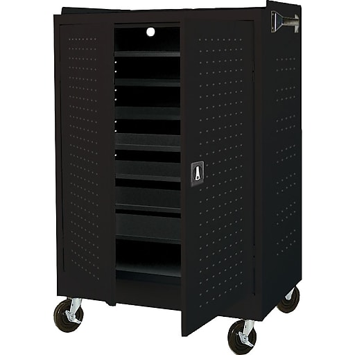 Sandusky Lee Steel Mobile Laptop Security Cabinet, Black (MLS523609)