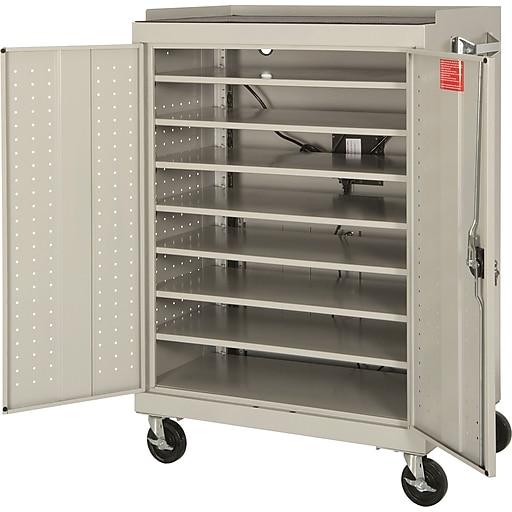 Sandusky Lee Mobile Laptop Security Cabinet, Putty (MLS523607EC)