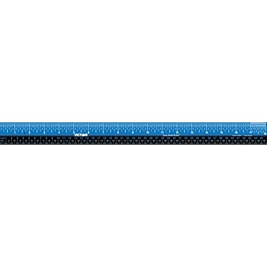 3-Pack of Blue Stainless Steel 18 Inch Easy Read Rulers