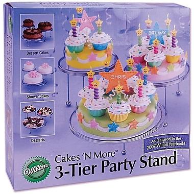 Wilton – Présentoir à gâteaux 3 niveaux Cakes-N-More