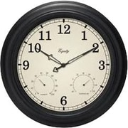 Equity by La Crosse 27915 15.5 inch Outdoor Clock with temperature & humidity