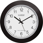 La Crosse Technology WT-3102B 10 Inch Atomic Analog Clock - Black