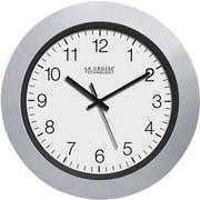 La Crosse Technology WT-3102S 10 Inch Atomic Analog Clock - Silver