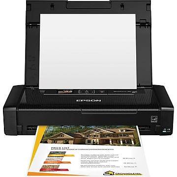 Epson WorkForce WF-100 Wireless Single-Function Color Inkjet Mobile Printer