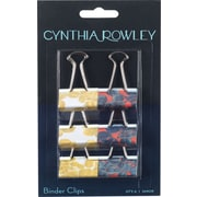 Cynthia Rowley Medium Binder Clips, Yellow Leaf and Blue Leaf (26909)
