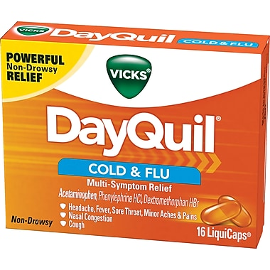 Vicks® DayQuil LiquiCaps Cold & Flu, Multi-Symptom Relief