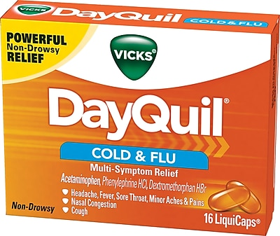 Vicks® DayQuil LiquiCaps Cold & Flu, Multi-Symptom Relief