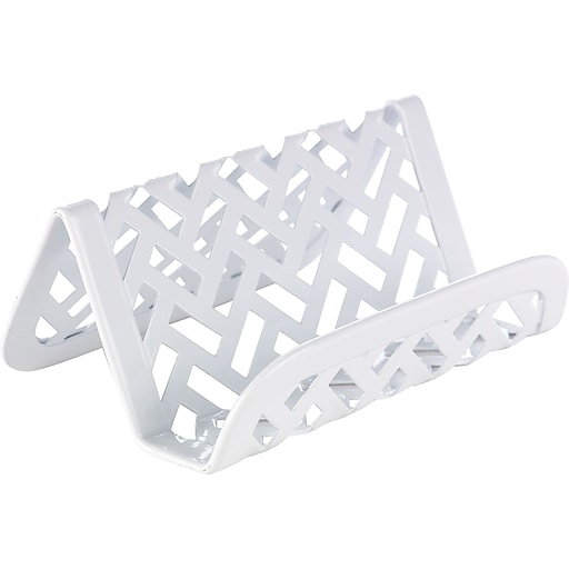 Staples white zigzag business card holder staples staples white zigzag business card holder rollover image to zoom in httpsstaples 3ps7is colourmoves