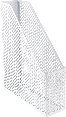 Staples® White Zigzag Magazine File (26849)