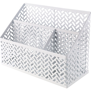 Staples® White Zigzag Desk Organizer (26850)