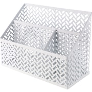 Staples® Zigzag Desk Organizer, White (26850)