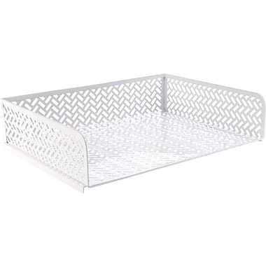Staples® Zigzag Letter Tray, White (26846)