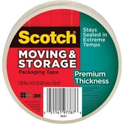 "Scotch® Moving & Storage Packaging Tape, Clear, 1.88"" x 54.6 yd., 3"" Core, 3/Pack"