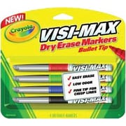 Dry Erase Marker, Chisel Tip, Fine, Assorted Colors, 4/set