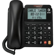 AT&T CL2940 Corded Phone With Speakerphone and Large Tilt Display, Black