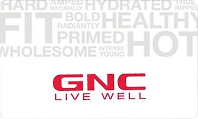 GNC Gift Card $50
