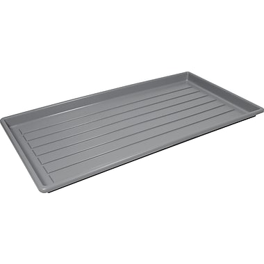 Storex Plastic Boot Tray, Grey