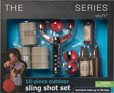 Black Series 10 piece outdoor slingshot