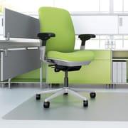 "Deflecto Hard Floor EnvironMat Recycled Chairmat, HardWoodTile Floors, 53""L x 45""W, Polyethylene Terephthalate (PET), Clear"