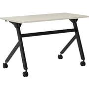basyx by HON Multi-purpose 47.2'' Rectangular Flip Top Training Table, Black (BMPT4824PQ.COM) NEXT2017