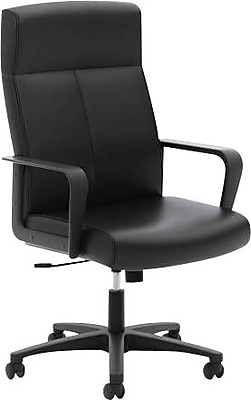 HON Validate High-Back Executive Chair, Center-Tilt, Fixed Arms, Black SofThread Leather NEXT2018 NEXT2Day