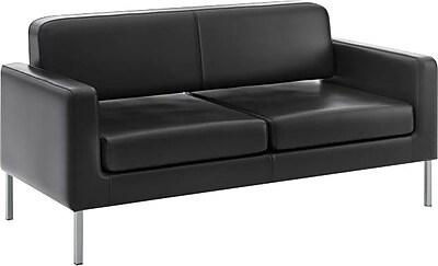 HON Corral Sofa, Black SofThread Leather NEXT2018 NEXTExpress