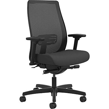 HON® Endorse Mesh Mid-Back Task Chair, Lumbar Adjustment, Black Mesh, Black Fabric NEXT2017 NEXT2Day