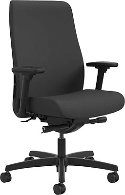 HON® Endorse Mid-Back Task Chair, Fabric, Black