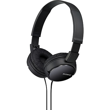 SONY (MDRZX110B) Over-the-Head Monitor Headphones, Black