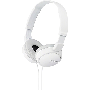 SONY (MDRZX110W) Over-the-Head Monitor Headphones, White