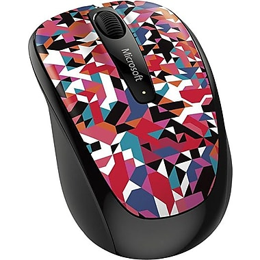 Microsoft Wireless Mobile Mouse 3500, BlueTrack USB Wireless Mouse, Geometric Pattern (GMF-00398)