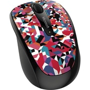 Microsoft Wireless Mobile Mouse 3500,  BlueTrack USB Wireless Mouse, Geometric Pattern (GMF-00398)