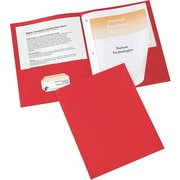 Avery(R) Two-Pocket Folders 47979, Red, Pack of 25