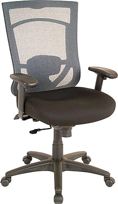 Tempur-Pedic® High Back Task Chair, Fabric, Black/Blue, Seat: 20.9