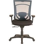 "Tempur-Pedic® High Back Task Chair, Fabric, Black/Blue, Seat: 20.9""W x 20.1""D, Back: 20.9""W x 22.4""H"
