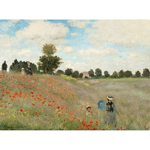 "Trademark Global Claude Monet ""Wild Poppies near Argenteuil"" Canvas Art, 18"" x 24"""