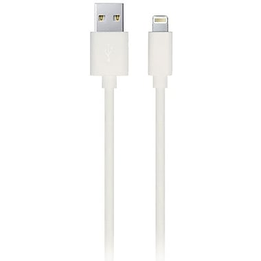 Urge Basics 3.3' Pin Lightning to USB Charge and Sync Cable (MFI Approved) - White