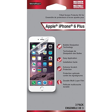 FellowesMD – Protecteurs d'écran WriteRight protection maximale pour l'iPhone 6 Plus, 3/emballage