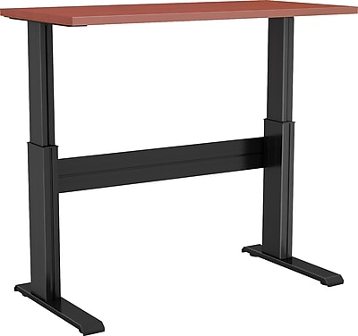 Right Angle 24'' Standard Sit & Stand Desk, Black/Cherry (NLTAAS243624BC)