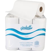Windsoft Kitchen Roll Paper Towels, 2-Ply, White, 6/Pack (WIN 2420)