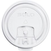 SOLO® Cup Company Lift Back & Lock Tab Cup Lids, White, Plastic, 1000/Carton (LB3081-00007)
