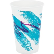 SOLO® Cup Company Jazz® Waxed Paper Cold Cups, 16 oz, Tide, Wax-Coated Paper, 1000/Carton (SCC RW16J)